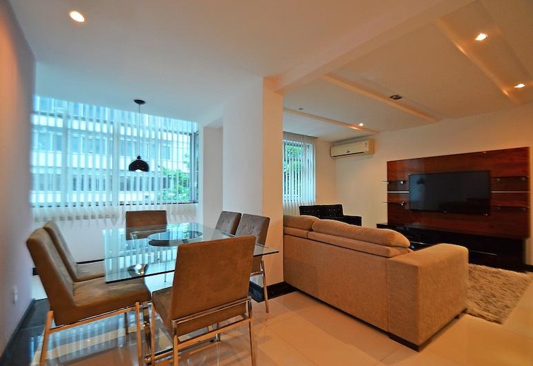 LineRio Copacabana Luxury Residence, Rio de Janeiro, Departamento familiar, 3 habitaciones, cocina, junto a la playa, Sala de estar