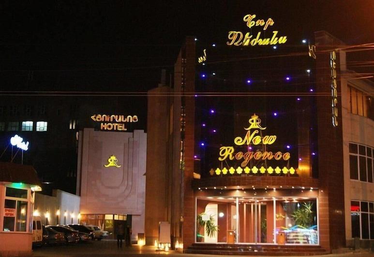 New Regence, Yerevan, Hotel Front – Evening/Night