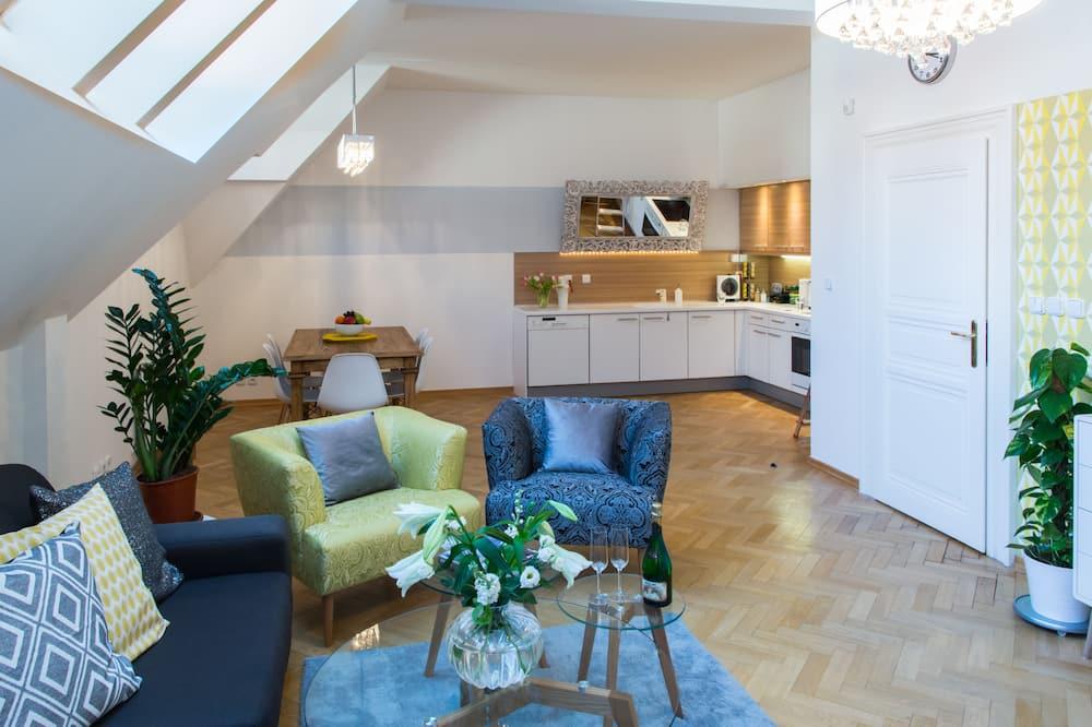 Apartamento superluxo, Sacada - Área de estar