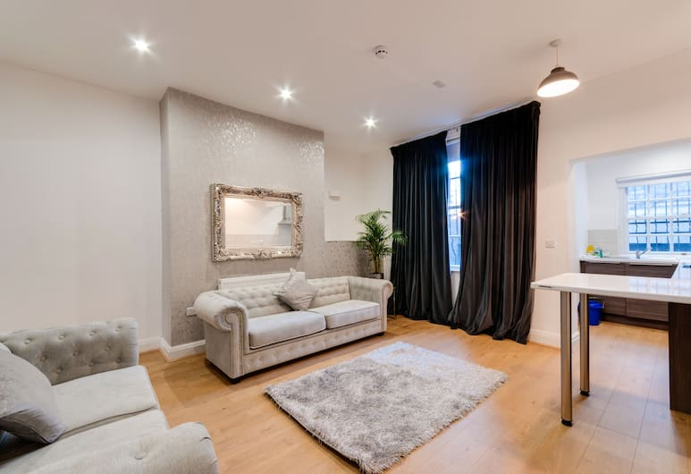 43 Knight Street Apartments, Liverpool, Woonkamer