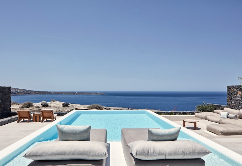 Canaves Oia Epitome, Santorini, Villa, privat basseng (Epitome), Terrasse/veranda