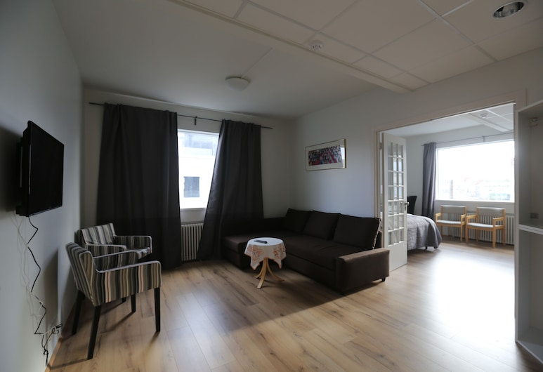 100 Iceland Hotel, Reykjavik, Svit City - privat badrum, Gästrum