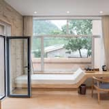 Double Room with Courtyard - Living Area