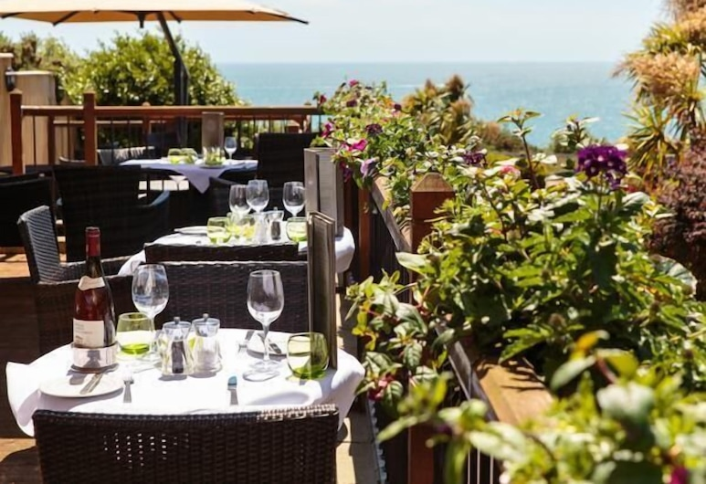 Hotel Miramar, Bournemouth, Restauration en terrasse