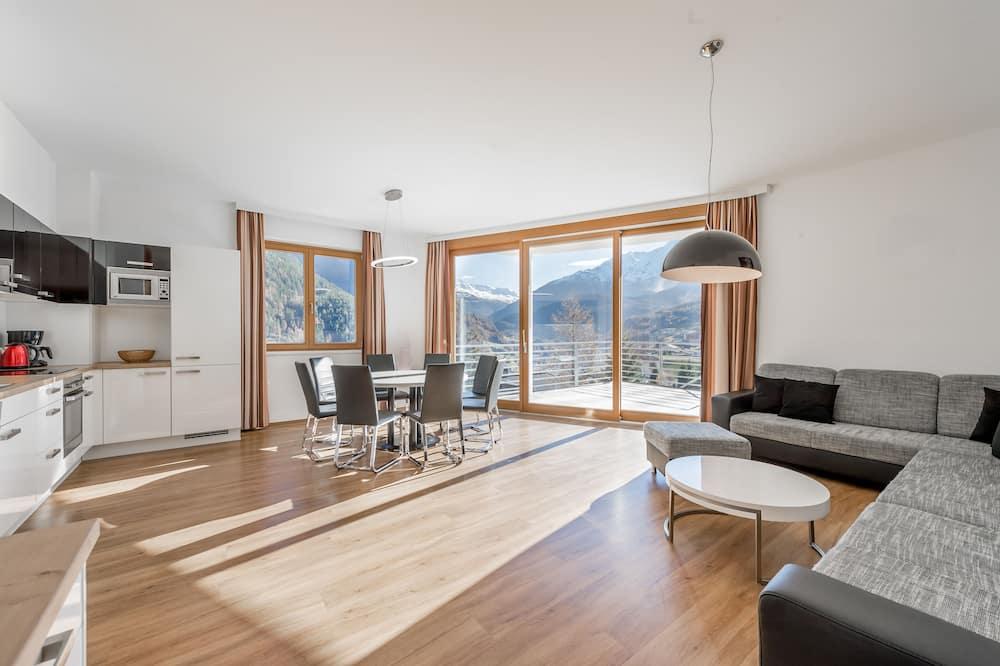 Apartmán, 4 ložnice, terasa (incl. cleaning fee 140€) - Obývací prostor