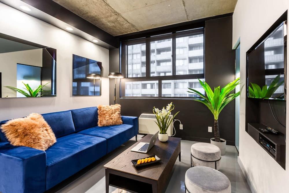 อพาร์ทเมนท์, 1 ห้องนอน (405) - ห้องนั่งเล่น