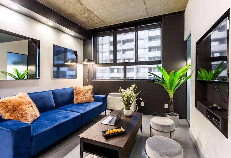 Pierce Boutique Apartments, Montreal, Departamento, 1 habitación (405), Sala de estar