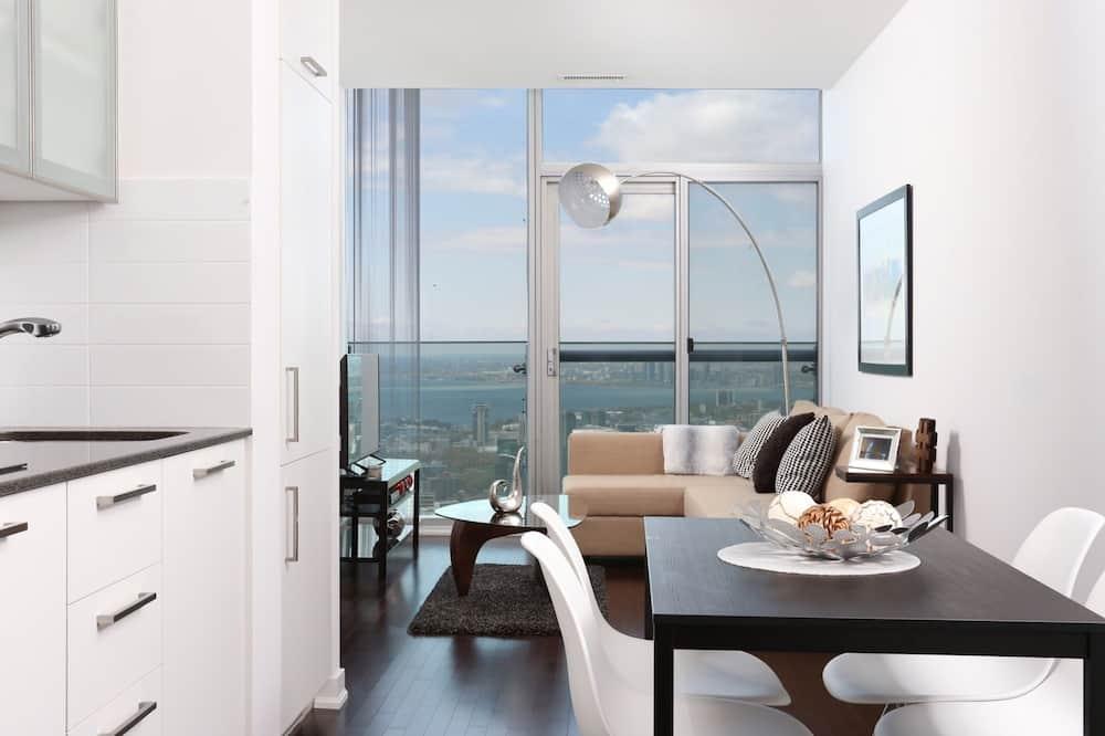Penthouse de lujo, 1 habitación, vista a la ciudad, piso ejecutivo - Sala de estar
