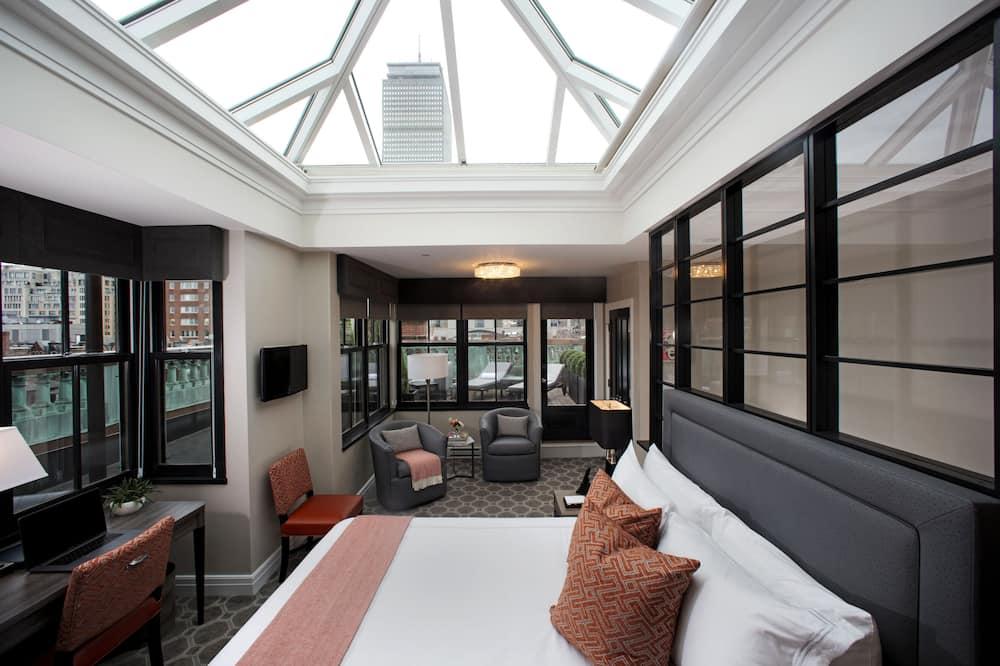 Standard Ρετιρέ, 1 Queen Κρεβάτι, Μη Καπνιστών (Penthouse) - Δωμάτιο επισκεπτών