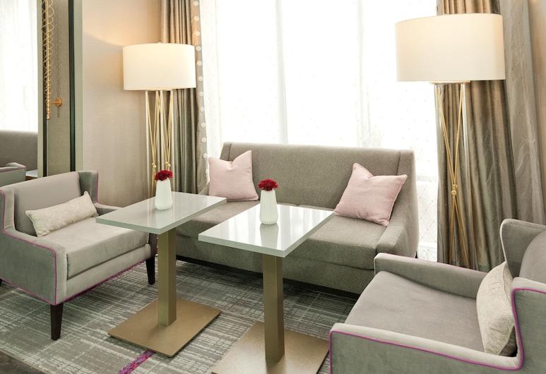 Hampton Inn & Suites Jackson-Ridgeland, Ridgeland, Sala de estar en el lobby