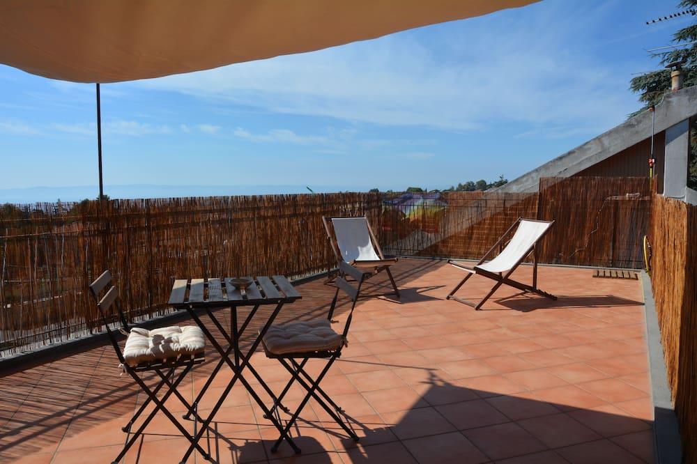 Nhà Duplex có tầm nhìn toàn cảnh, Nhiều giường, Hiên, Quang cảnh biển - Sân thượng/sân hiên