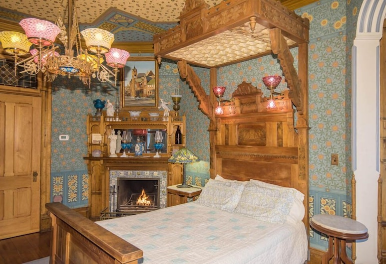 The Richards House Bed & Breakfast, Dubuque, Deluxe-herbergi - 1 meðalstórt tvíbreitt rúm - Reyklaust - einkabaðherbergi, Herbergi