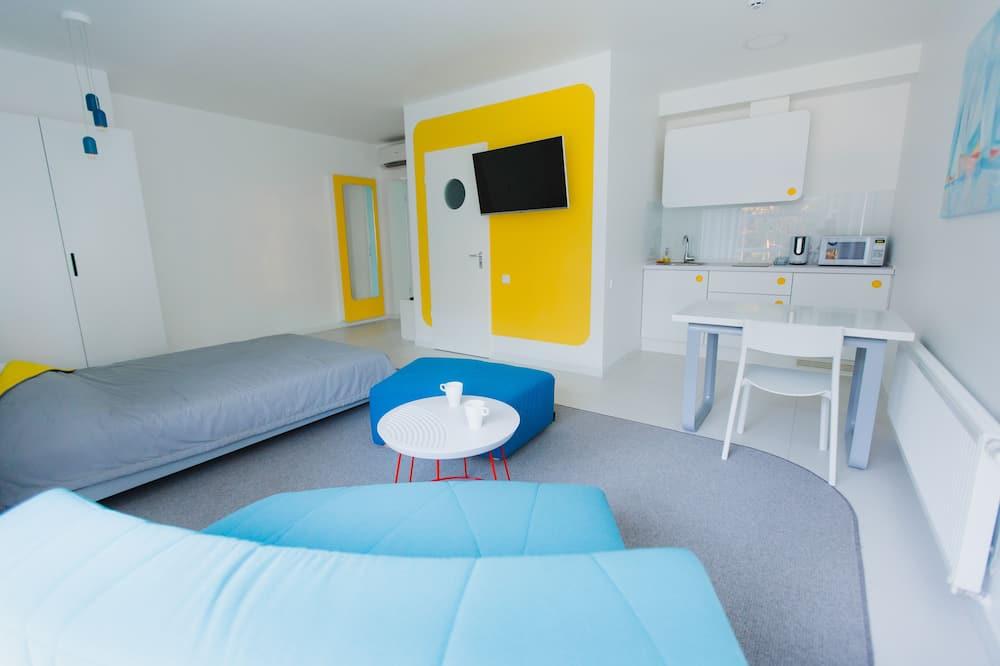 Phòng đôi có thiết kế đặc sắc, Bếp nhỏ - Khu phòng khách