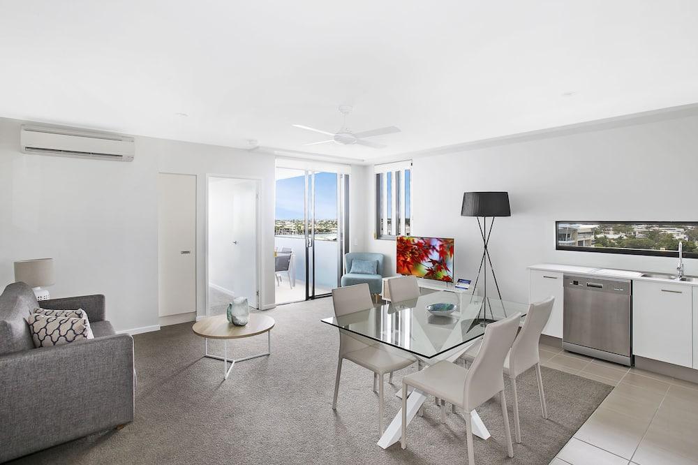 Standard-Apartment, 2Schlafzimmer, Meerblick - Wohnbereich