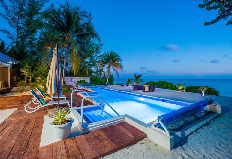 5ª Noche Gratuita: Cabaña Ultra Chic de 5 Dormitorios Frente a la Playa con Piscina Privada, East End, Alberca