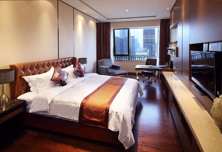Estay Apartment Poly Central Pivot GZ, Guangzhou, Deluxe Double Room, Bilik