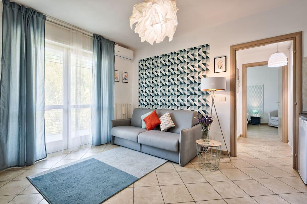 Departamento Confort, 1 habitación, terraza, vista al río - Sala de estar
