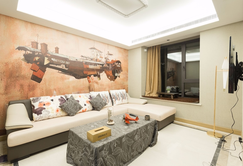 Namei Apartment-Chuansha Branch, Shanghai, Suite, 3 Bedrooms, Living Room