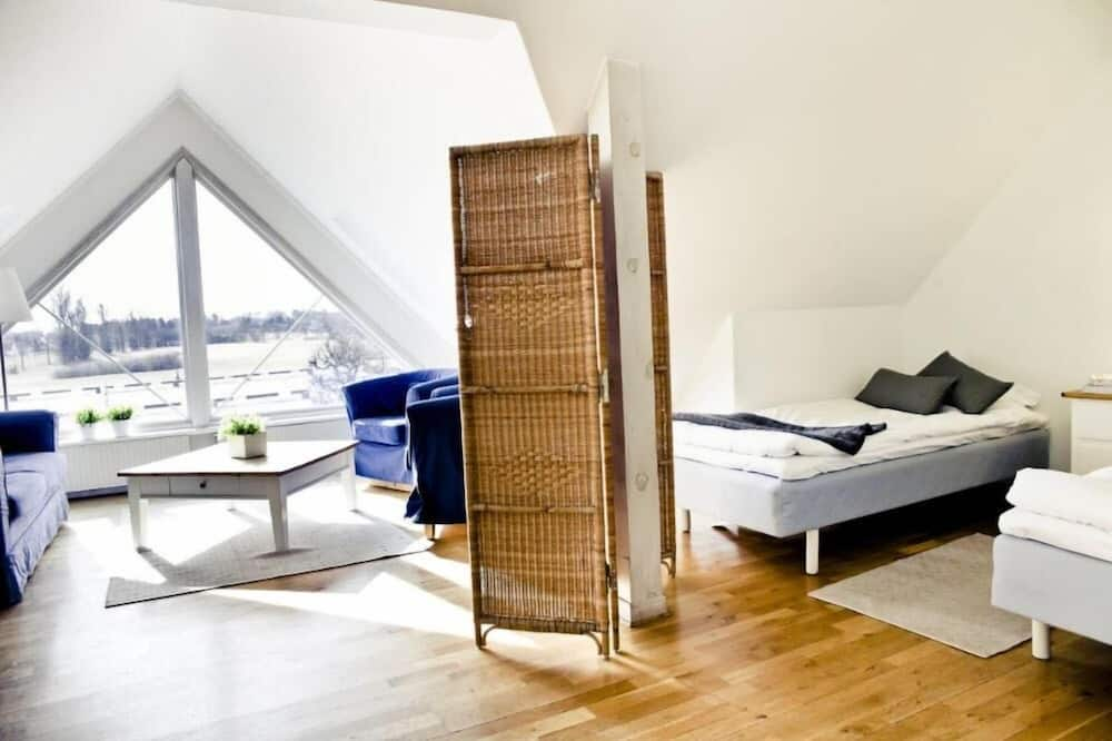 Basic Double Room, Shared Bathroom - Living Area