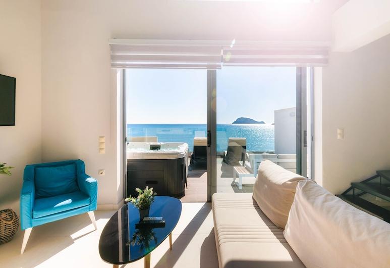 Pearl Luxury Living, Ζάκυνθος, Διαμέρισμα, 2 Υπνοδωμάτια, Θέα στη Θάλασσα, Περιοχή καθιστικού