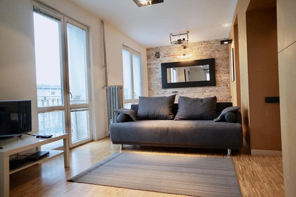 時尚開放式客房, 1 張標準雙人床和 1 張沙發床 - 客廳