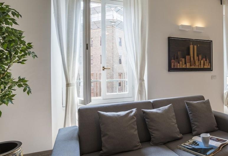 アルティド バイア マッジーニ, ミラノ, アパートメント 2 ベッドルーム 2 バスルーム (Duomo Attic), リビング ルーム