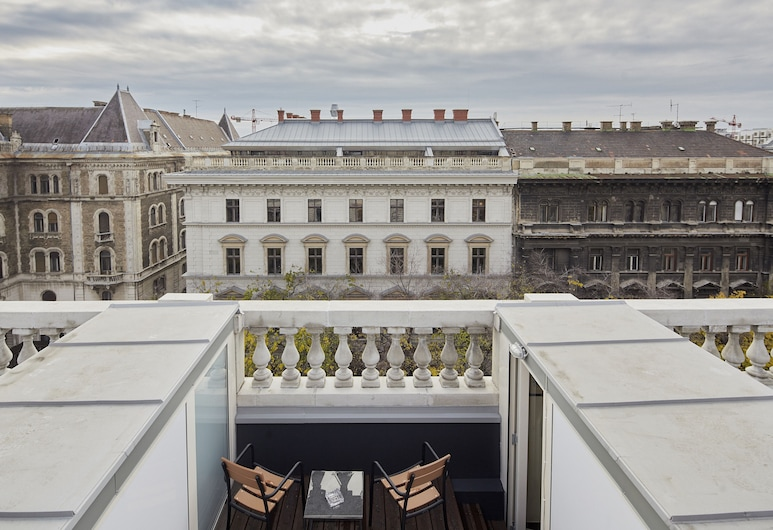 Callas House, Budapeste, Quarto Duplo Deluxe, Varanda, Varanda