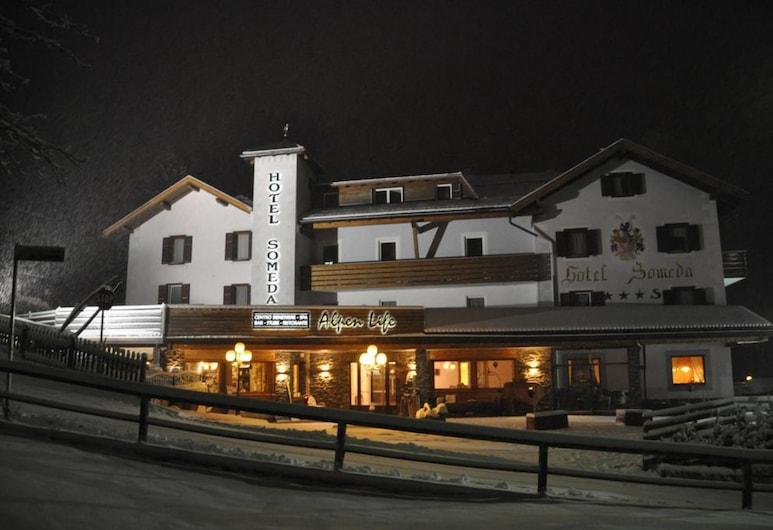 Alpenlife Hotel Someda, Moena, Pohľad na hotel – večer/v noci