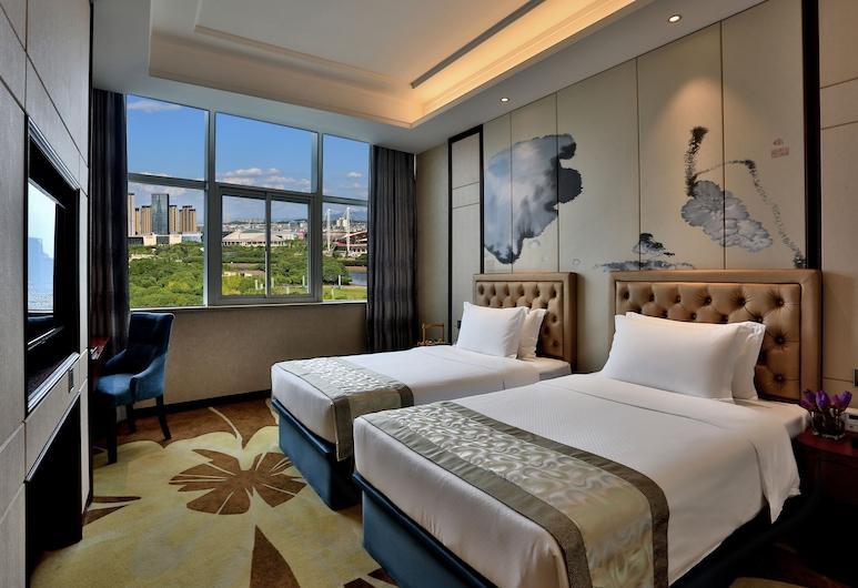 ZhongLian KaiXin Hotel, Jinhua, Herbergi fyrir tvo, tvö rúm, Herbergi