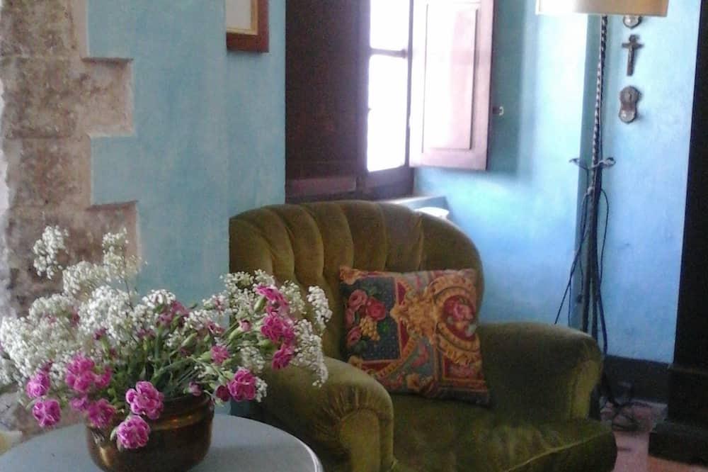 غرفة مزدوجة - بحمام خاص (External) - منطقة المعيشة