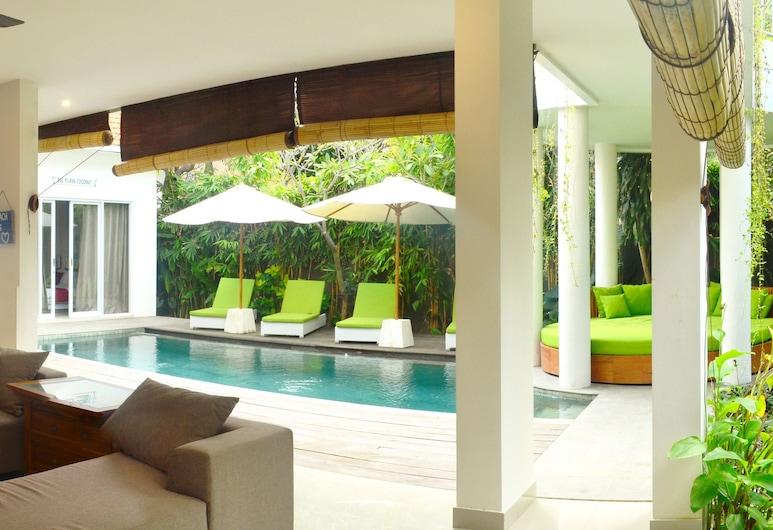 海洋海濱別墅 - 6 房私人泳池酒店, 水明漾, 高級別墅, 客廳