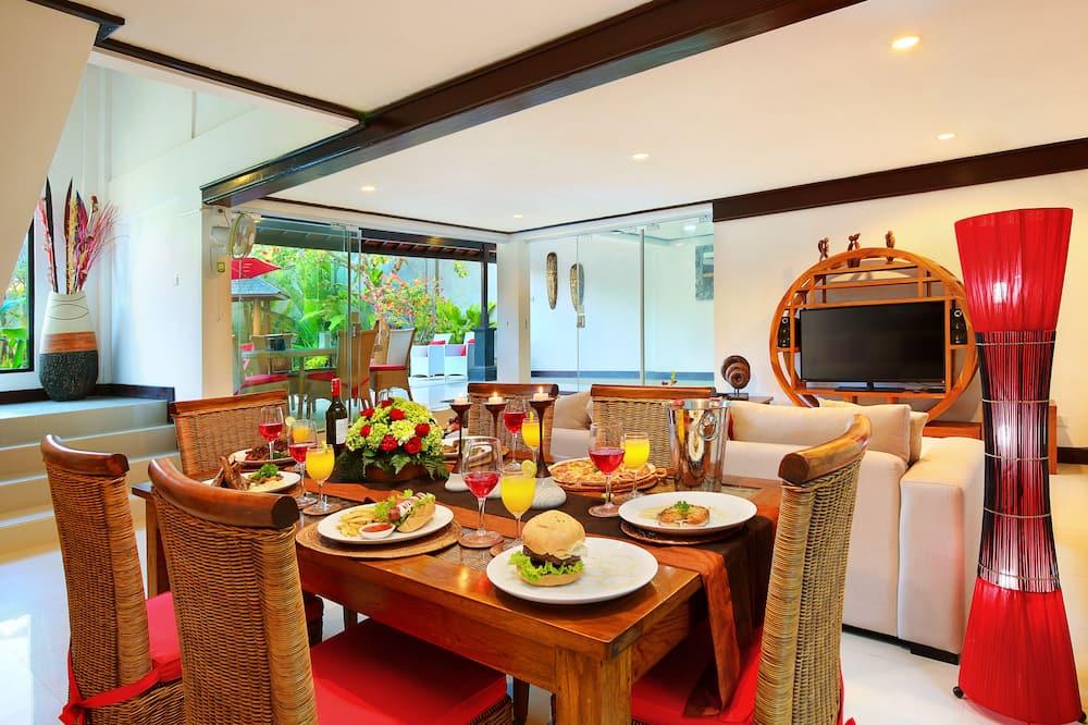 Family Villa, 3 Bedrooms, Private Pool - Tempat Makan dalam Bilik