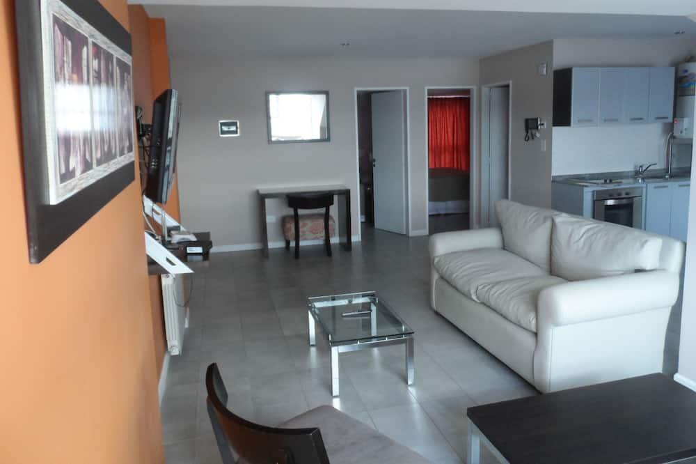 Familie appartement, 2 slaapkamers, Uitzicht op de baai - Woonruimte