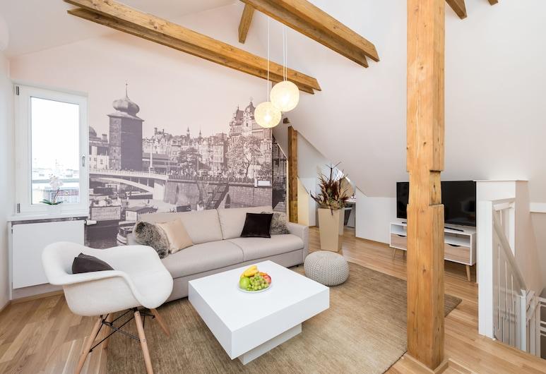 Empirent Chic River Apartments, Prag, Lägenhet - 3 sovrum (Myslikova 5), Vardagsrum