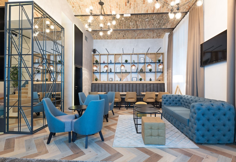 Hotel Capital, Belgrad, Sitzecke in der Lobby