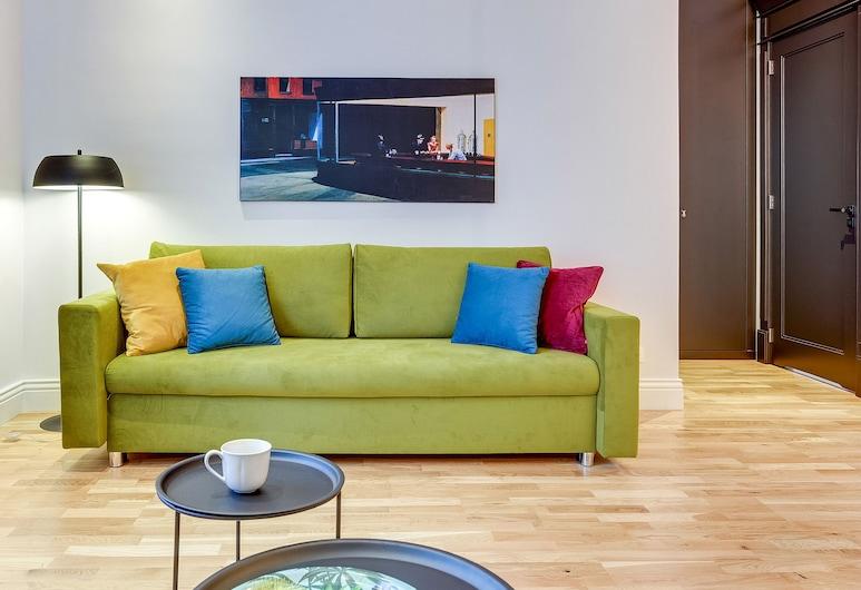 Dom & House - Apartments Quattro Premium Sopot, Sopot, Apartmán typu Comfort, 1 spálňa, balkón (max. 4 adults), Obývačka