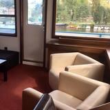 พาโนรามิกอพาร์ทเมนท์, 1 ห้องนอน, ระเบียง, วิวแม่น้ำ - พื้นที่นั่งเล่น