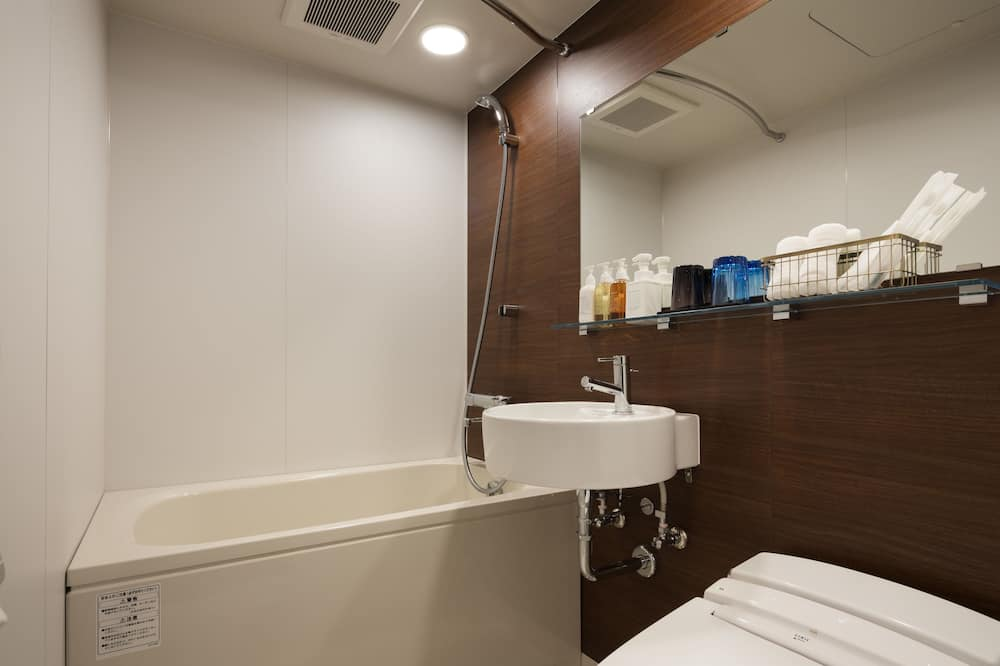 エコノミー ツインルーム シングルベッド 2 台 - バスルーム