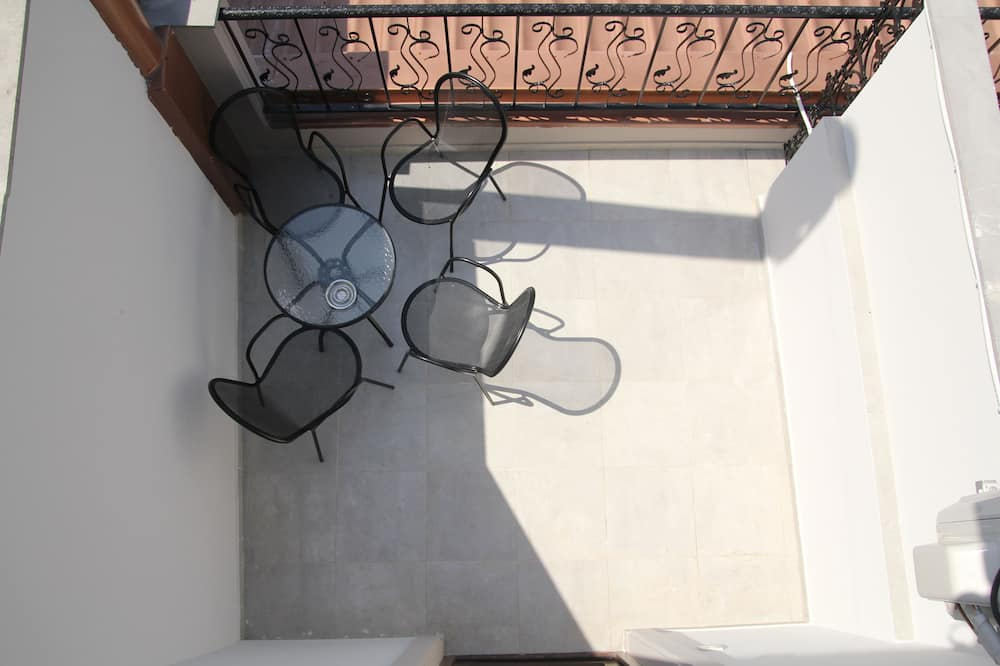 Panoramic fyrbäddsrum - rökare - Balkong