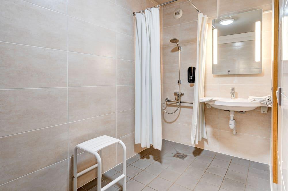 ห้องดับเบิล, พร้อมสิ่งอำนวยความสะดวกสำหรับผู้พิการ, ปลอดบุหรี่ - ห้องน้ำ