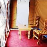 Tält Deluxe - 1 dubbelsäng - tillgänglighetsanpassat - utsikt mot dalen - Vardagsrum