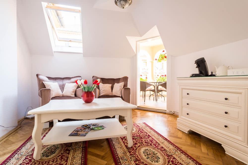 דירה דה-לוקס, 2 חדרי שינה, חדר רחצה פרטי - סלון