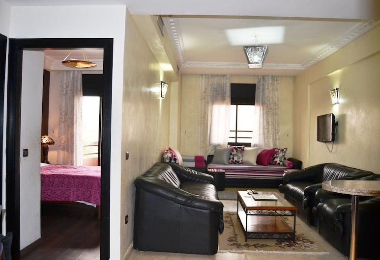 阿納斯馬洛雷勒薩波爾公寓酒店, 馬拉喀什, 標準公寓, 1 間臥室 (Iris), 客廳