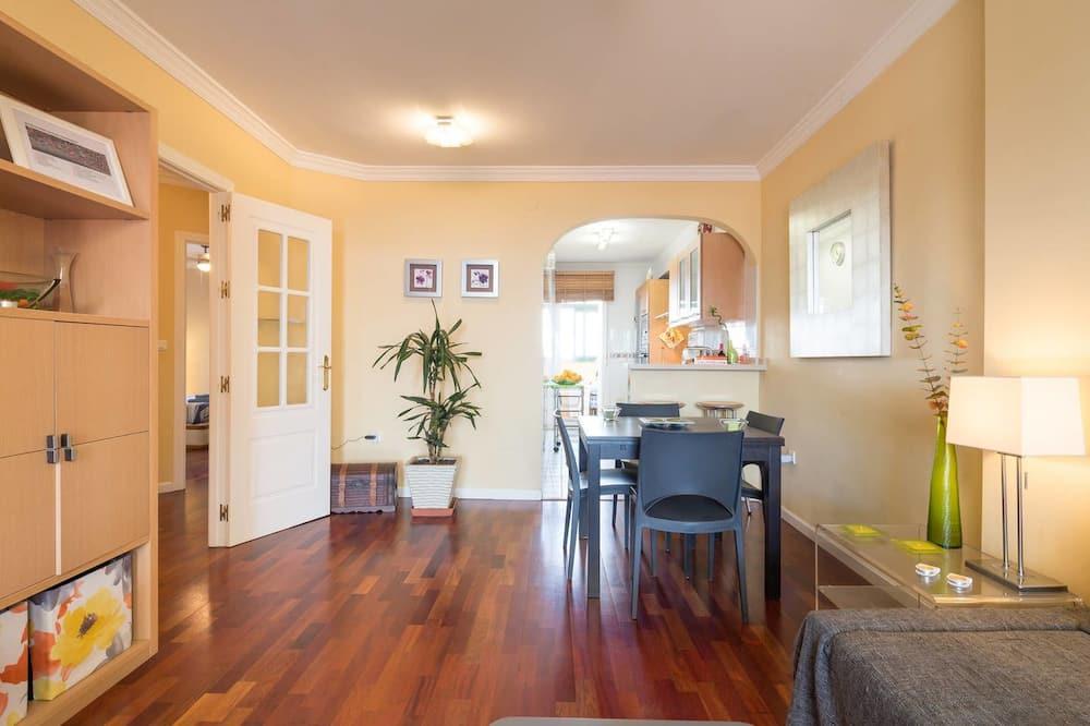Appartamento Exclusive, 2 camere da letto, vista spiaggia - Soggiorno