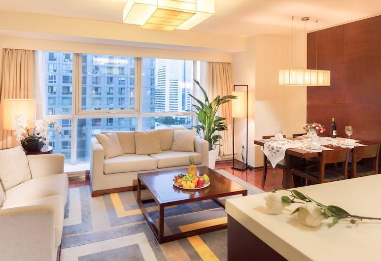 Oak Chateau Beijing, Pekín, Suite Deluxe, 2 habitaciones, cocina, Habitación