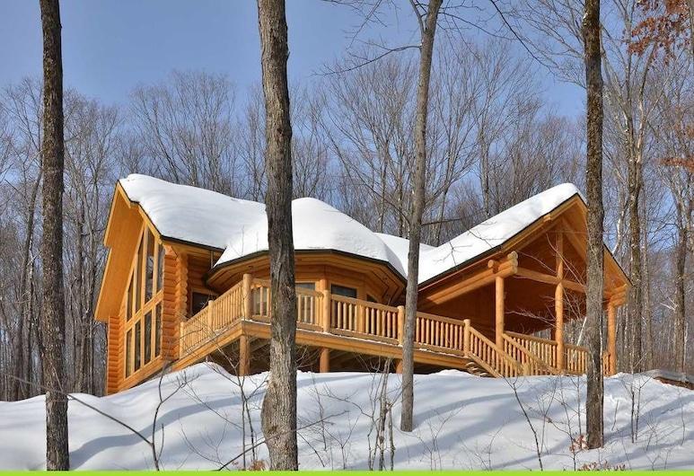 Chalet Deer Lodge, ริวิแยร์รูจ, ชาเลท์, 5 ห้องนอน, ริมทะเลสาบ, ระเบียง