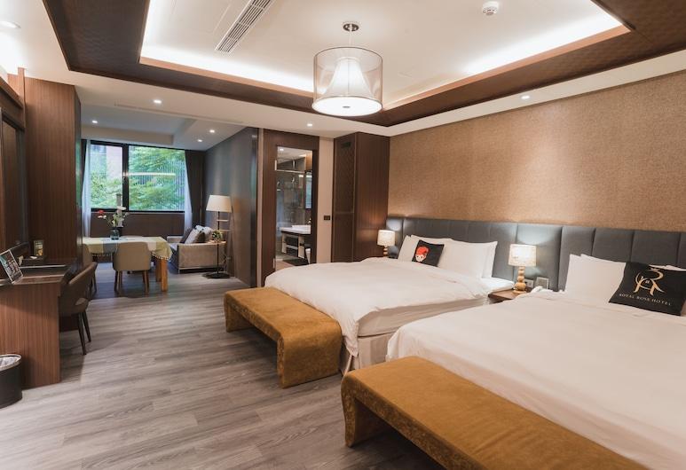 Rose Boutique Hotel Xinsheng, Taipei, Čtyřlůžkový pokoj typu Deluxe, 2 dvojlůžka, nekuřácký, výhled na město, Výhled z pokoje