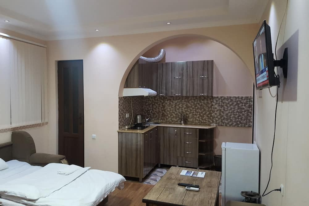 Studijas tipa ģimenes numurs, viena guļamistaba - Dzīvojamā zona