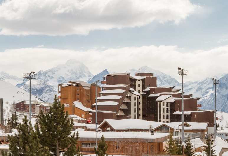 Maeva Particuliers L'Alpe D'Huez L'Ours Blanc, Huez, Overnatningsstedets facade