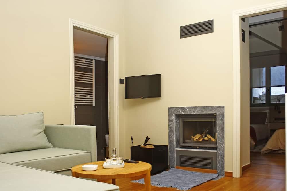 ジュニア スイート 暖炉 - リビング エリア
